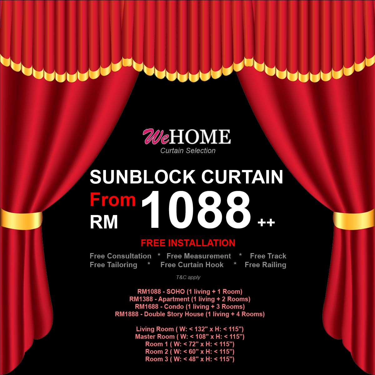 Wehome Curtain Promo